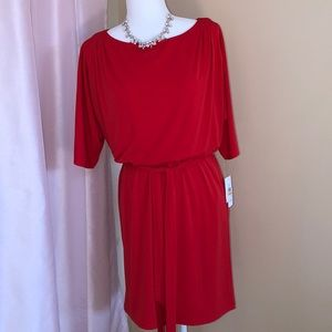 Jessica Simpson split sleeve  blouson dress. Sm